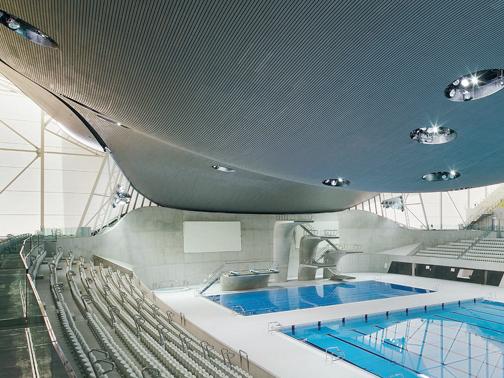 Aquatics centre a londra zaha hadid architects arketipo for Piscine zaha hadid