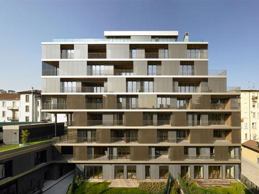 Residenza plurifamiliare a milano antonio citterio for Piani di costruzione dell edificio
