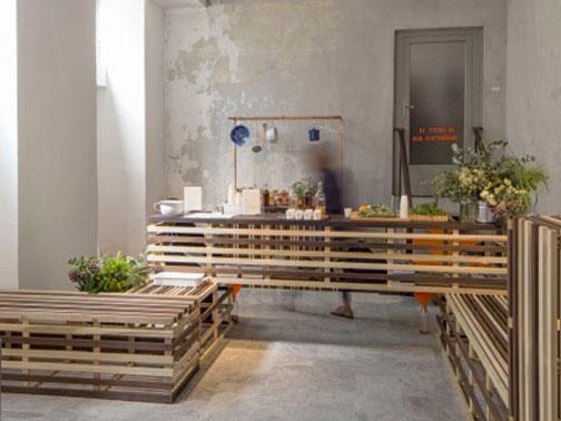 Tulip bar carl turner architects arketipo for Ristrutturare bancone bar