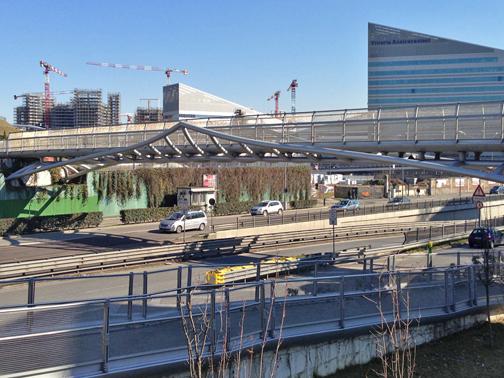 Viale de gasperi pedestrian and bicycle walkway arup for Viale serra milano