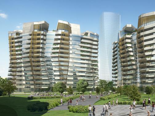 Libeskind residences studio daniel libeskind arketipo for Quartiere city life