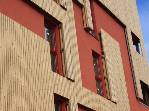 Palazzine in legno a brescia rubner objektbau e 5 1aa for Piani di coperta in legno
