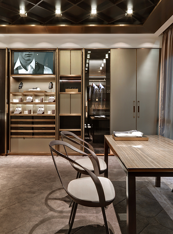 The new flagship store of brioni has opened in frankfurt for Interior design frankfurt