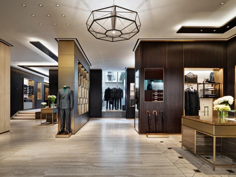 Brioni flagship store di milano park associati arketipo for Milano design shop