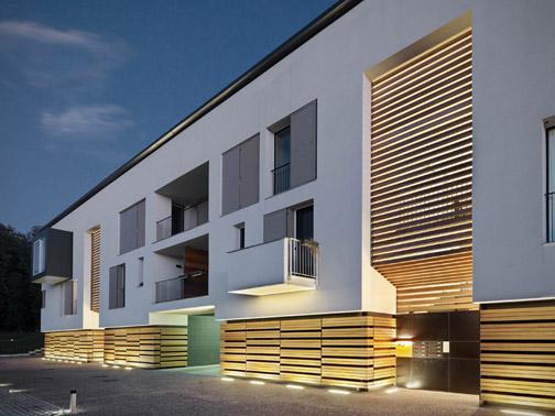 Complesso residenziale ad azzate park associati arketipo for Come costruire un piccolo tetto sul bow window