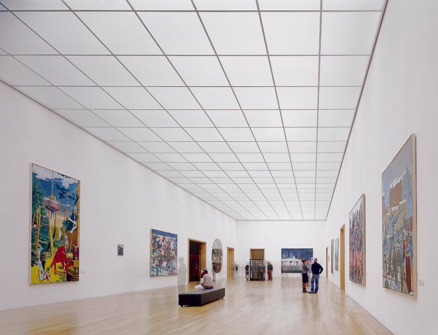 Performance in lighting per il museo di arti figurative di lipsia