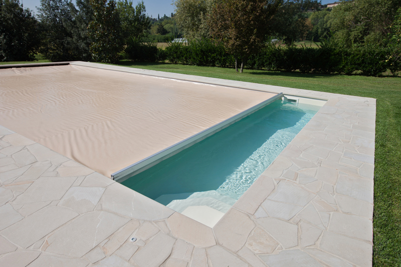 Coperture blueguard di piscine castiglione arketipo for Castiglione piscine