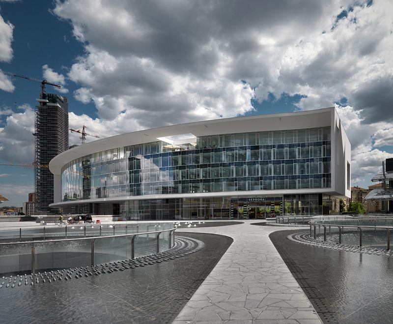 Edificio e1 e2 in porta nuova a milano piuarch arketipo for Uffici condivisione milano
