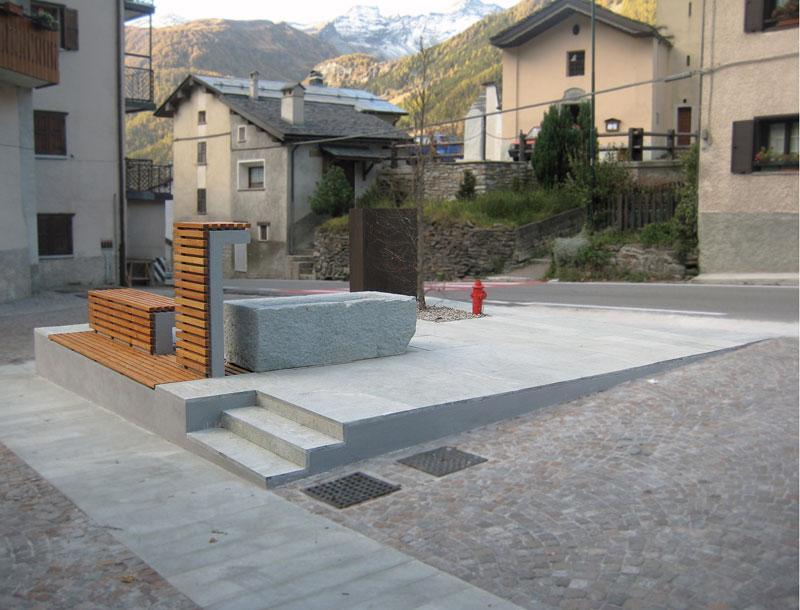 Arredo urbano a pianazzo simone cola arketipo for Progetto arredo