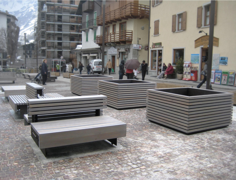 Progetto Di Arredo Urbano.Opere Di Arredo Urbano A Madesimo Simone Cola Arketipo