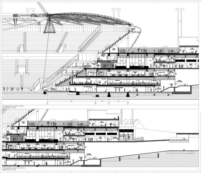 Nuovo stadio juventus f c ai engineering arketipo for Progetto del piano di costruzione