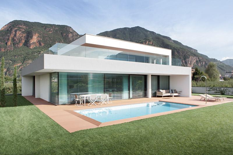 Progettazione Esterni Casa : Casa m a bolzano monovolume architecture design arketipo
