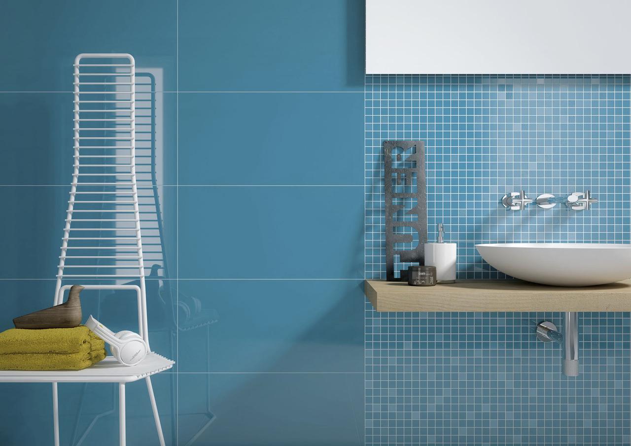 Piastrelle di ceramica bene l export 3 male l - Mosaico blu bagno ...