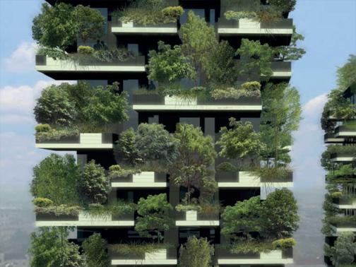 Bosco verticale boeri studio arketipo - Giardini verticali interni ...