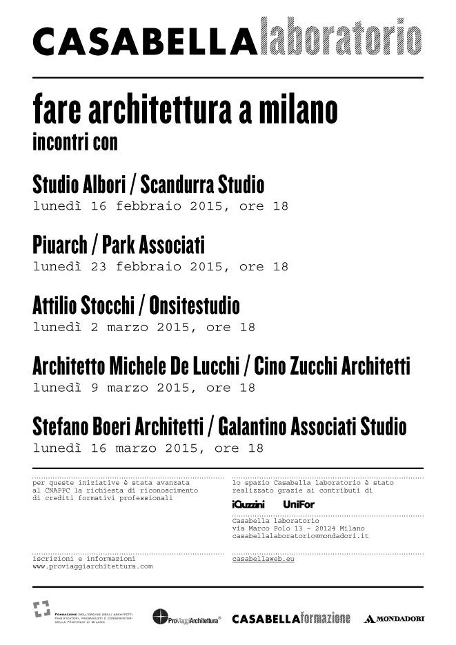 Fare architettura a Milano?