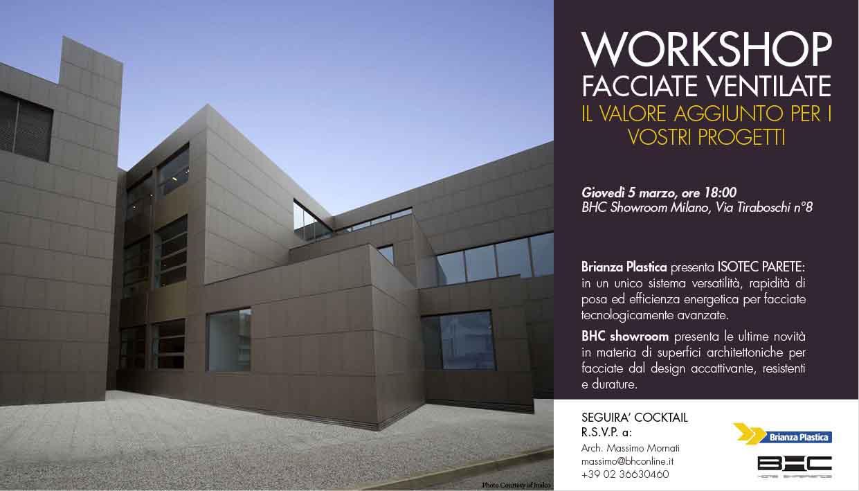 """Workshop: """"Facciate Ventilate: il valore aggiunto per i vostri progetti"""""""