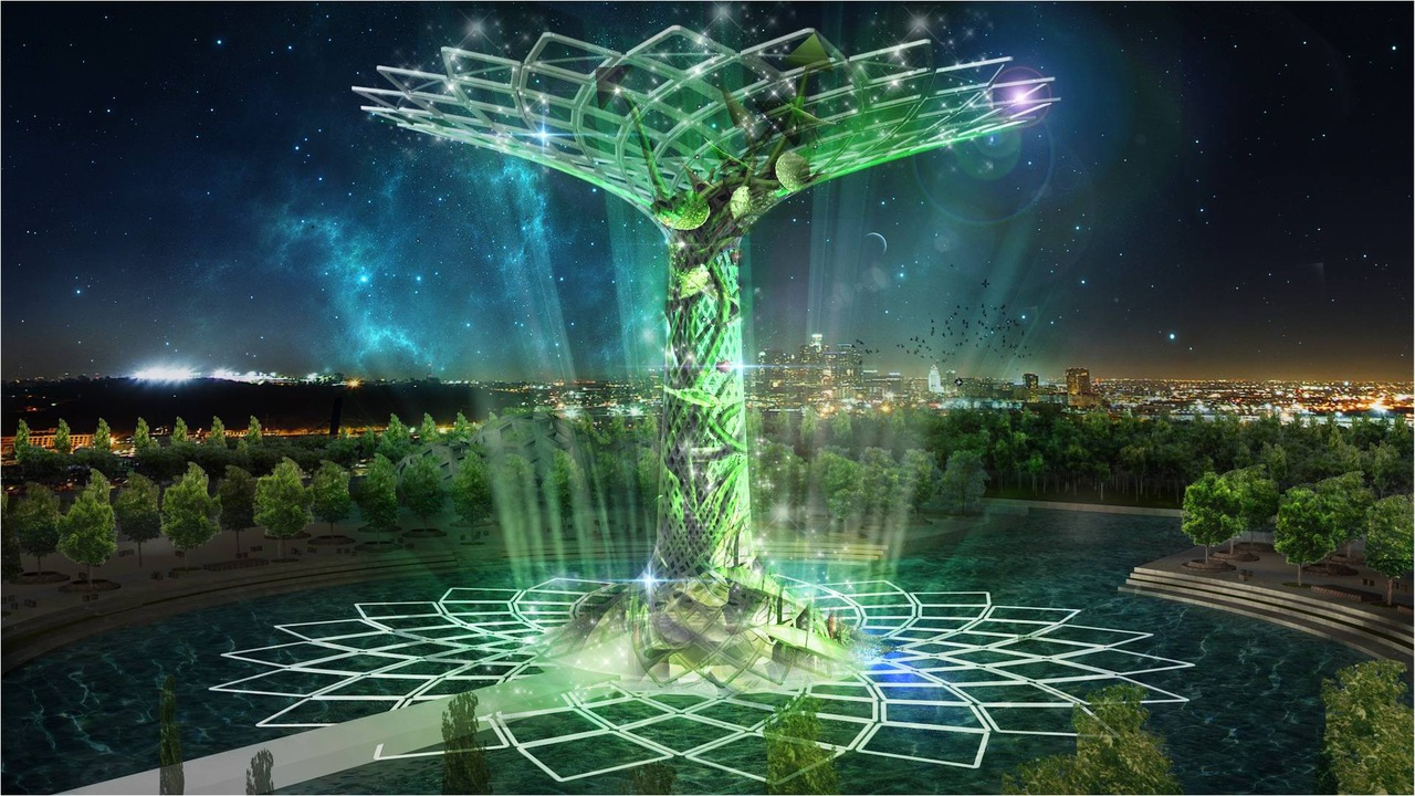 The Tree Of Life Symbol Of The Italian Pavilion At Expo 2015 Is