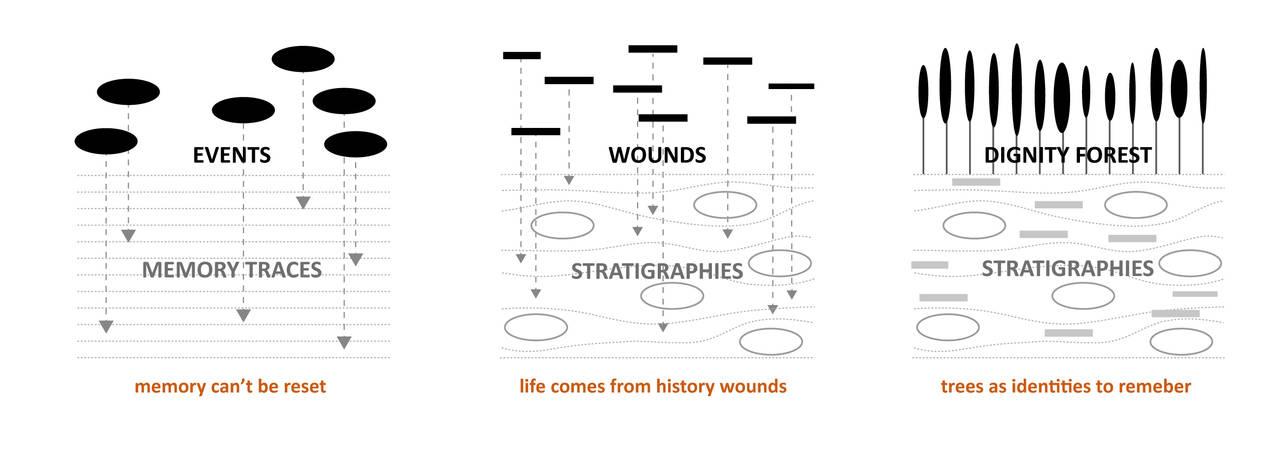 Gli strati della memoria: tracce, eventi, ferite, alberi