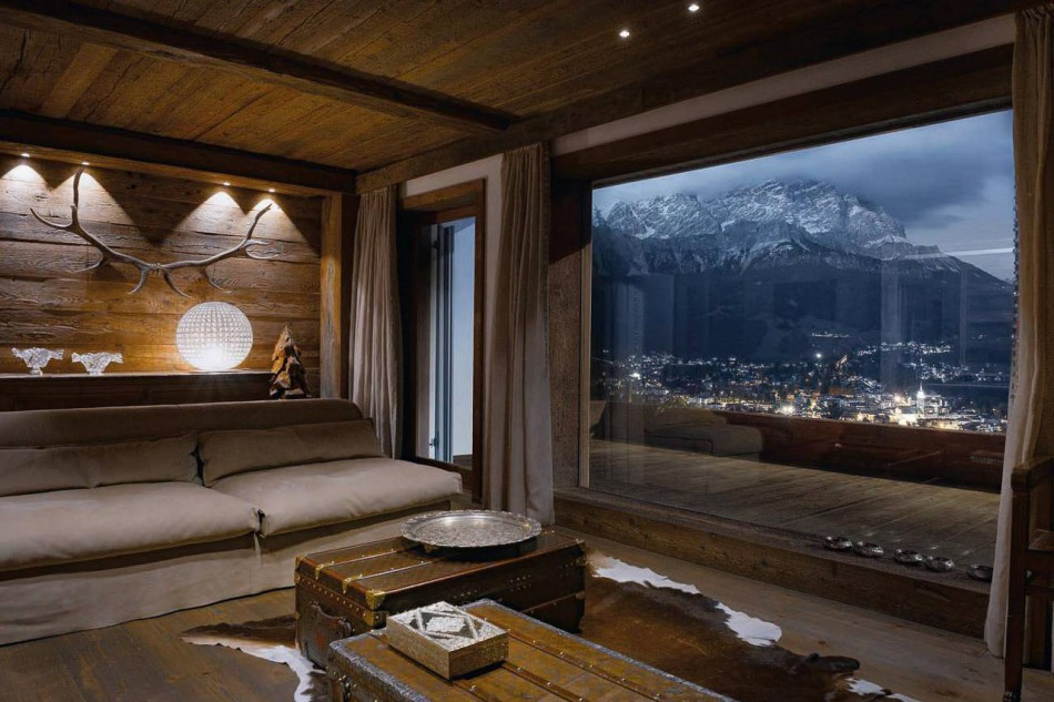 Dimora di montagna a cortina outline studio 74 arketipo for Interni architettura