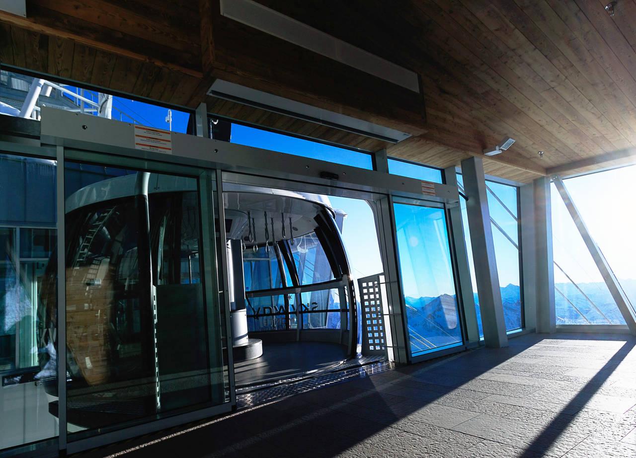 La nuova funivia Sky Way - Monte Bianco