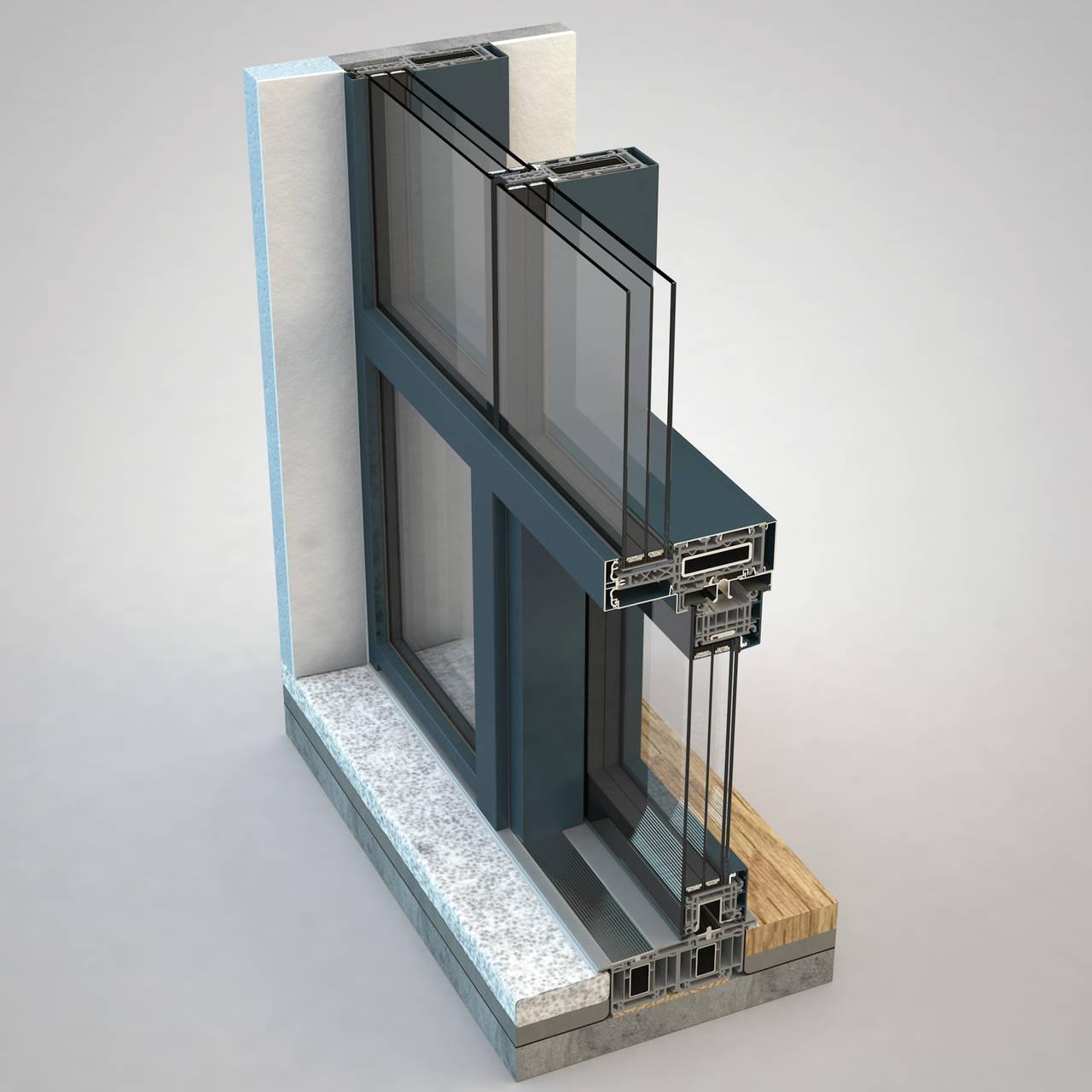 FIN-Project by Finstral. Parete vetrata Vista Cristal