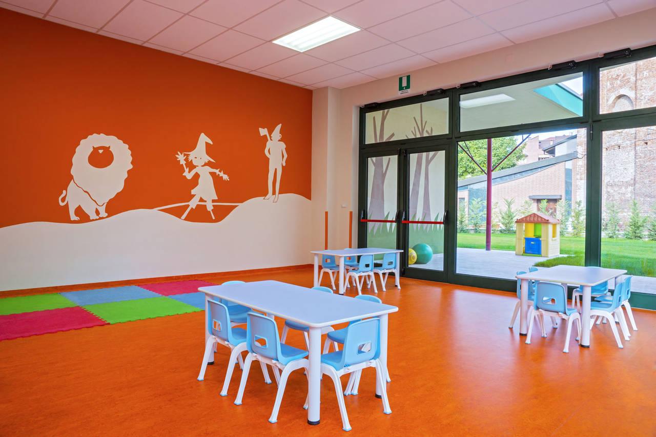 Un'aula della scuola Santa Maria della Pieve