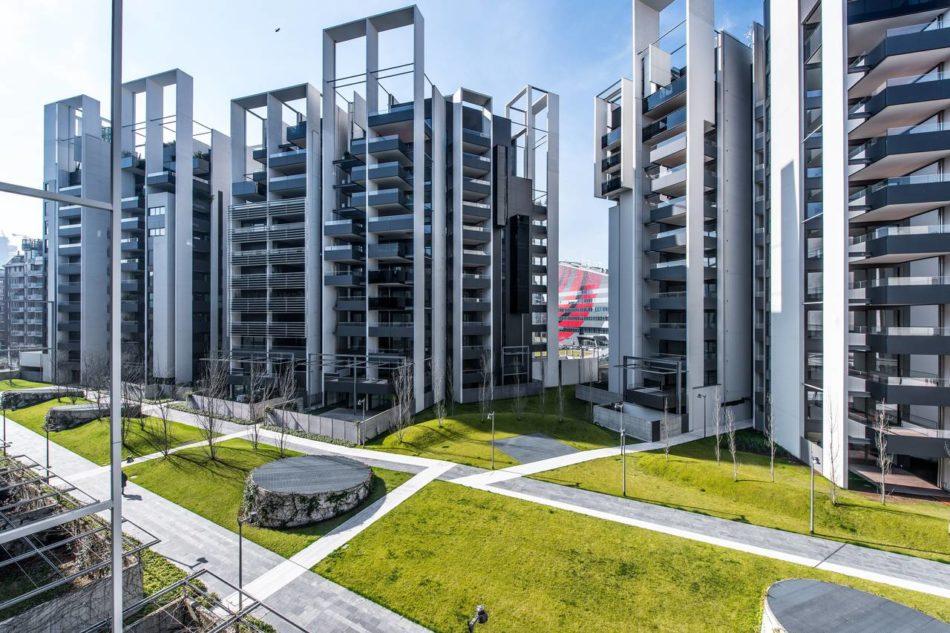 Residenze parco vittoria a milano studio canali associati - Residenze porta nuova ...