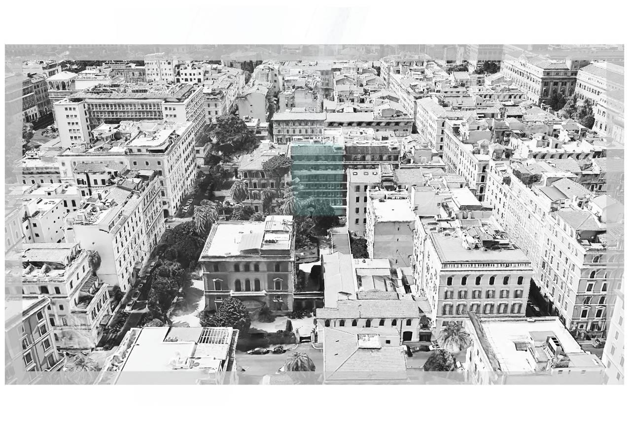 White Island a Roma - inquadramento urbano