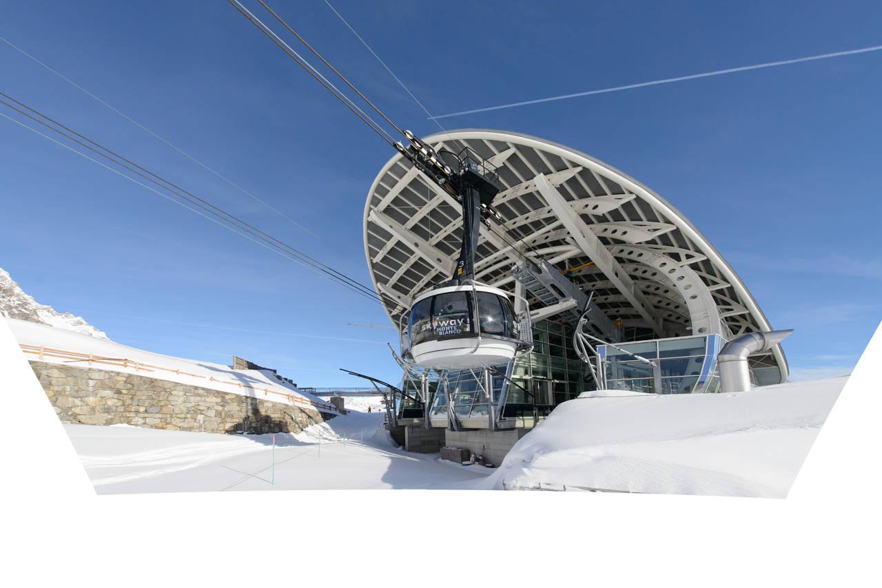Wienerberger per la funivia skyway monte bianco arketipo for Cabine di pesca nel ghiaccio alberta
