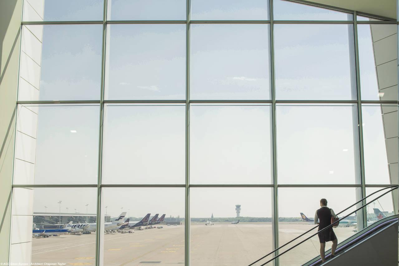 <em>Connector la nuova struttura di collegamento costruita all'interno di Brussels Airport a Zaventem</em> Photo by Jean-Michel Byl