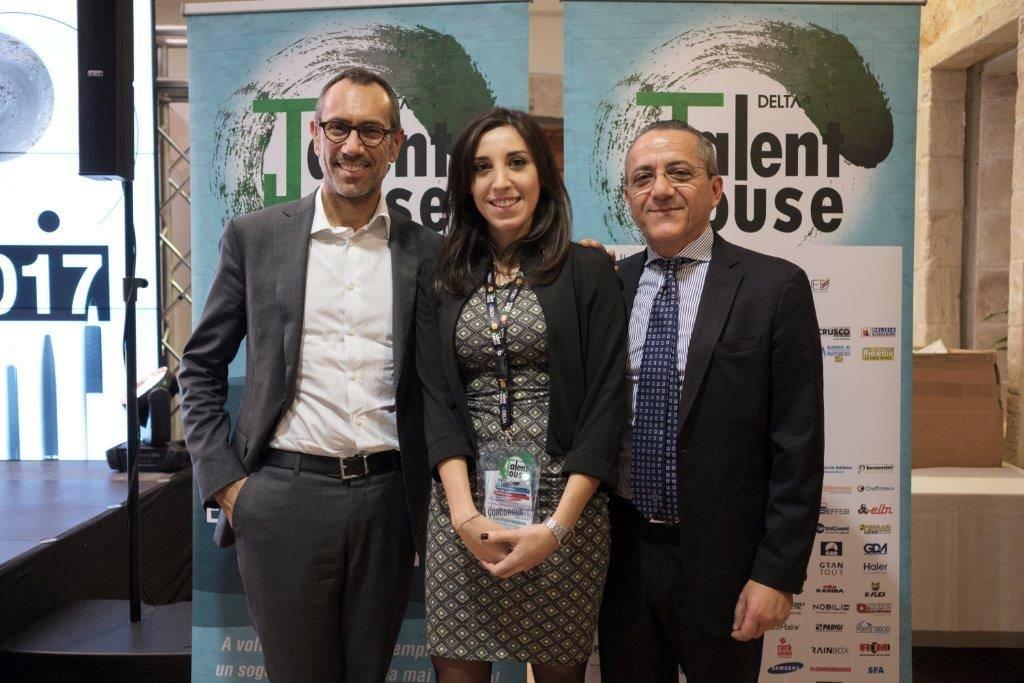 Andrea Castrignano e il Presidente del Gruppo Delta