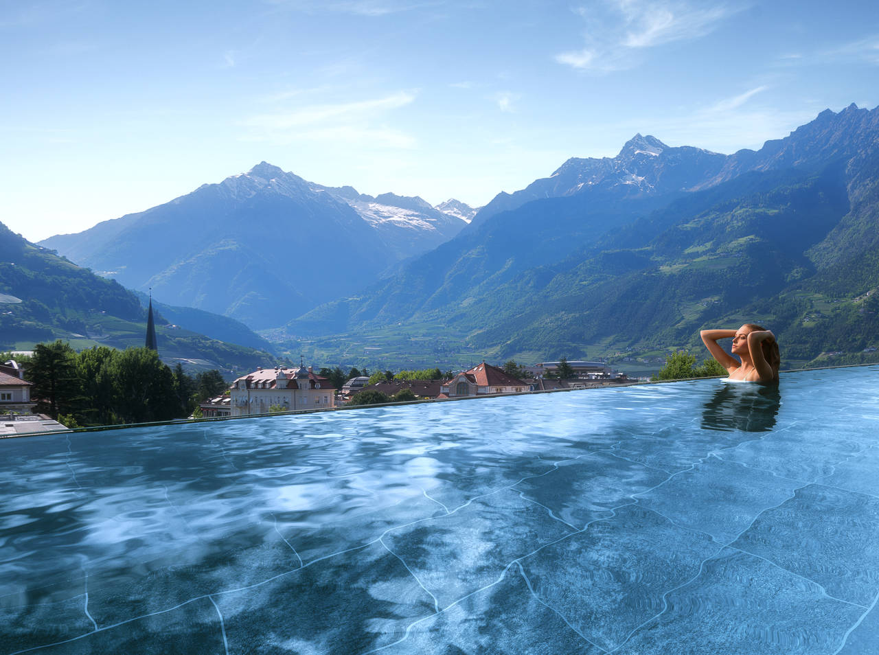 SKY SPA Hotel Terme Merano Pool
