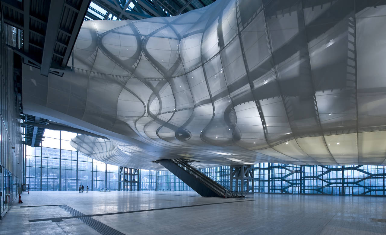 """La Nuvola"" di Massimiliano Fuksas situata all'interno del Roma Convention Center"