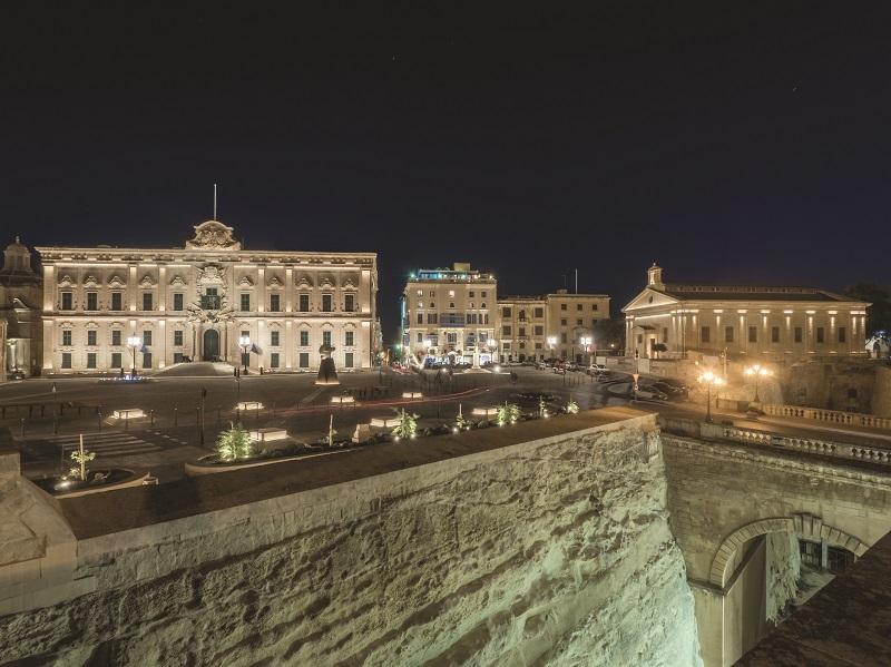 Piazza Castille a La Valletta, Malta
