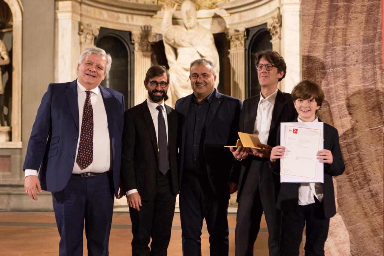 Jesus Aparicio, Francesco Isidori, Rocco Alfano, Carlo Cappai con il figlio