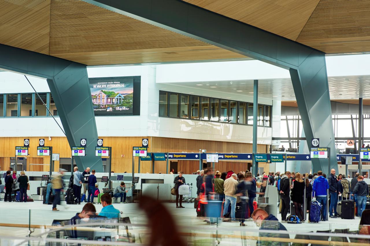 Il laminato Formica atterra al nuovo terminal dell'aeroporto di Bergen