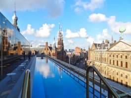 Rooftop Swimming Pool W Hotel, Amsterdam