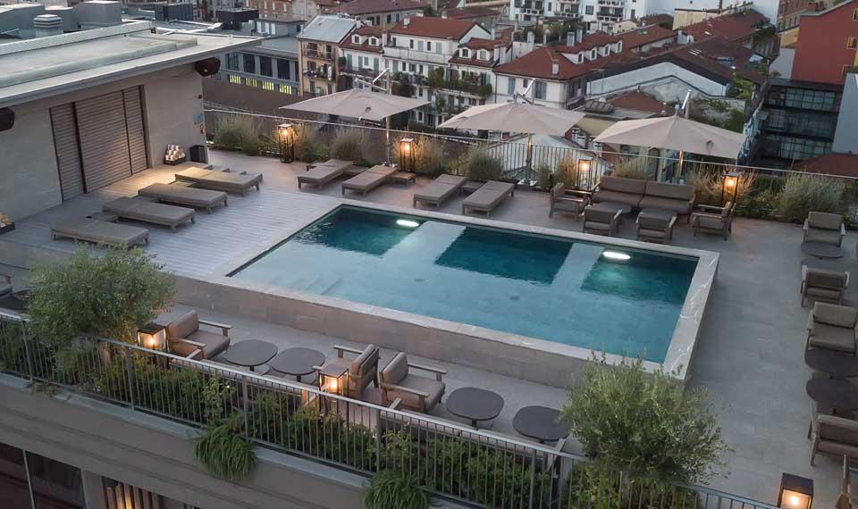 Mirtha Pools Per L Hotel Viu Milan Arketipo